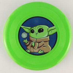 Disney Star Wars Baby Yoda Grogu Mandalorian Green Frisbee Toy 9 Inch Brand New!