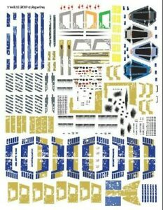 Star Wars Decals 1/144 Bandai X-Wing T-65 Blue Group
