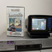 Train Ride Australia TESTED WORKING Clamshell Clamcase VHS RARE Video Tape HTF