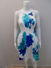 NEW CALVIN KLEIN BLUE PRINT DRESS SIZE 6P (#K1457)