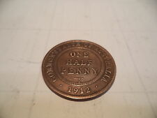 1912 Kgv Half Penny Fine/very fine  RARE VERY OLD COLLECTION GREAT INVESTMENT