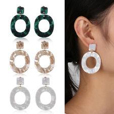 1 Pair Acid Acrylic Resin Dangle Oval Drop Earrings Geometric Jewelry UK