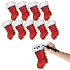 10 Navidad Fiesta Vacaciones Decoraciones De Pared 19.1cm Personalizado Calcetín
