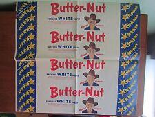 Vintage 1950s Original HOPALONG CASSIDY BUTTER-NUT Bread Wrapper Advertising TV