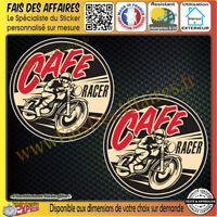 2 Stickers Autocollant adhésif café racer live to ride, ride to live casque