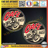 2 Stickers Autocollant adhésif café racer live to ride, ride to live casque