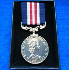 More details for the military medal erii full size reproduction medal & ribbon presentation box