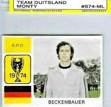 1974 Franz Beckenbauer -MONTY GUM-WORLD CUP FOOTBALL München 74