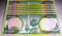 IRAQI DINAR UNCIRCULATED RAMDOMLY SERIAL NUMBERED-  10X 10,000  = 100,000 DINAR