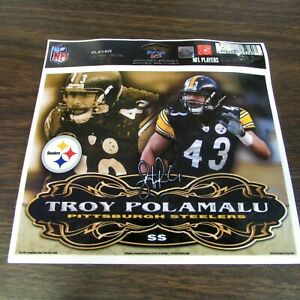 PITTSBURGH STEELERS - TROY POLAMALU - PLAYER ULTRA DECAL - MINT