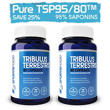 2x Tribulus Terrestris 1000mg x 90 Tabs, 95% Steroidal Saponin, 80% Protodioscin