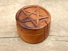 Wooden Magic Puzzle Secret Gift Box PENTAGRAM.....