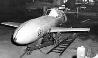 "WWII photo Japanese MXY7 ""Oka"" projectile in the hangar in Okinawa war 12o"