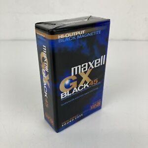 Maxell GX Black 45 VHS C Blank Super High Quality Camcorder Tape *NEW & SEALED*