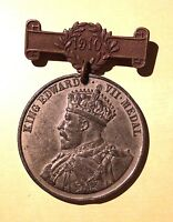 King Edward VII Medal 1910 London County Council For Punctual Attendance W. Bar