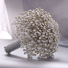 New Luxury Crystal Shiny Rhinestone Brooch Bridal Wedding Bouquet Decor Handmade