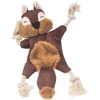 Stuffless Dog Toys for Puppy, Crinkle Squeaky Dog Chew Toys Squirrel Plush  X1P3
