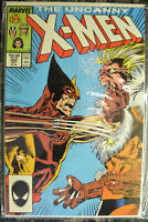 UNCANNY X-MEN #222 (Oct 1987,  Marvel) Wolverine vs Sabretooth (NM+) 9.4-9.6