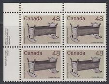CANADA #929i 48¢ Cradle UL Inscription Block - Brown Background Shade MNH