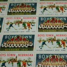 FULL SHEET BOYS TOWN NEBRASKA STAMPS FROM 1959