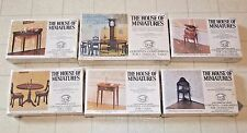 6 lot HEPPLEWHITE The House of Miniatures Kits, 4 TABLES, WASHSTAND, CELLARETTE