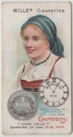 German Woman 1900 Clothing Fashions Coin Berlin 100+ Y/O Trade Ad Card