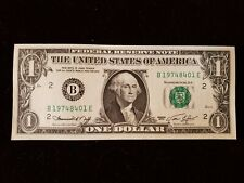 1974 $1 One Dollar Federal Reserve Note Serial Number 197448401  GEM UNC