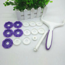 Fondant Strip Ribbon Cutter Embosser Roller Cake Decorating Baking Tools Set