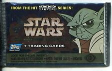 Star Wars The Clone Wars 2004 Factory Sealed Hobby Packet / Pack