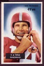 1955 BOWMAN Y.A. TITTLE  CARD NO:72 NEAR MINT