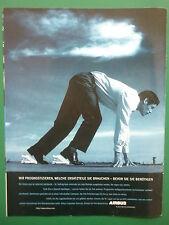 12/1998 PUB AVION AIRBUS AIRLINER STARTING BLOCKS ORIGINAL GERMAN AD
