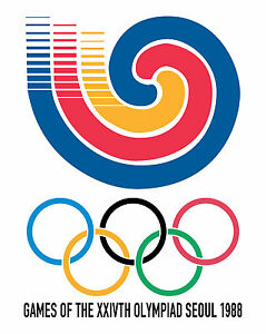 """1988 Seoul Summer Olympic Poster - 8""""x10"""" Photo"""