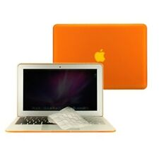 """2 in 1 Rubberized ORANGE Case for Macbook AIR 11"""" A1370 with TPU Keyboard Cover"""