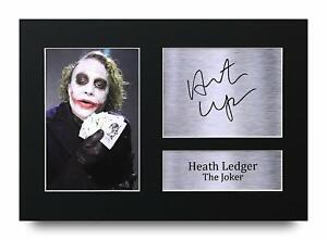 Heath Ledger Signed A4 Framed Printed Autograph Print The Joker Batman Movies