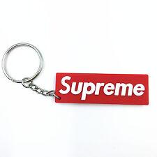 New Supreme Red Box Logo PVC Sticker Skate Key Ring Chain Keyring Keychain #9101
