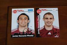 Javier Pinola 2 autógrafo fichas FCN 07-09 Rosario Central River Plate Argentina