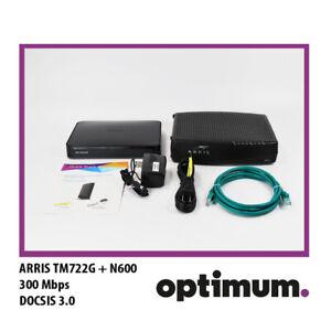 ARRIS TM722G Cable Modem + N600 Netgear Router - Optimum Compatible