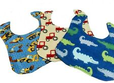 Set of 3 Boys Handcrafted Bibs