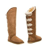 Australia Luxe Collective Women's Sparta Knit Shearling X Tall Boots Shoes New