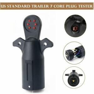 7-Way Blade RV LED Connector Tester Trailer Wiring Circuit Hitch Towing Plug Kit