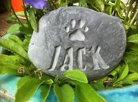 Hand carved Personalised Pet Memorial stone, for dog, cat, grave marker cornwall