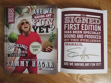 Sammy Hagar signed Are We Having Any Fun Yet? Cooking & Partying Book Van Halen