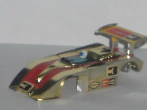 VINTAGE AURORA AFX SHADOW CAN AM BODY RARE GOLD CHROME SWEET HO SLOT CAR