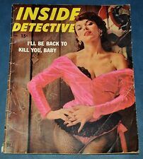 "VINTAGE Inside Detective February 1953 ""I'll Be Back to Kill You, Baby"" Article"