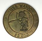 "Circa 1950s USS Wahoo SS 565 Submarine Brass Wall Plaque--6.5"" Diameter"