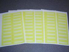 100 Blank Yellow Juke Box Labels Jukebox  Free S&H
