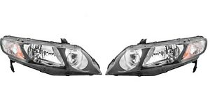 Left & Right Genuine Headlights Headlamps Pair Set For Honda Civic Hybrid 06-11