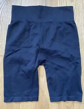 H&M Sport Black Ribbed Cycling Shorts - Size M