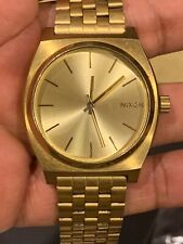 Nixon Minimal The Time Teller Gold Color Watch 100M Stainless Steel