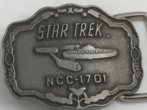 "1976 STAR TREK NCC-1701 Belt Buckle 2"" Star Trek Lives Paramount Pictures"
